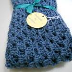 Crochet Baby Blanket Denim ..